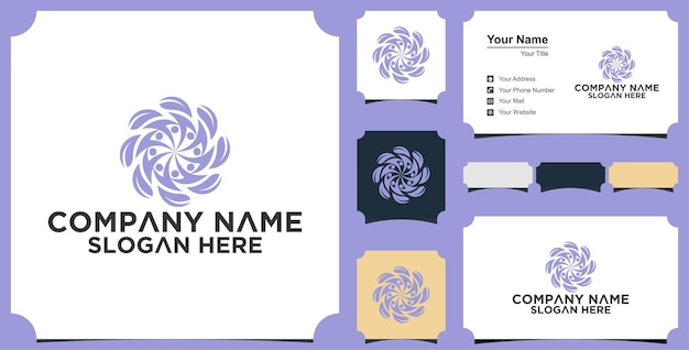 Medical people logo and business card Premium Vector