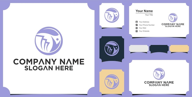 Medical people logo and business card