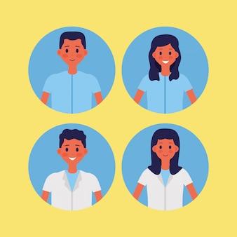 Medical people staff vector illustration