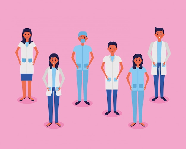 Medical people staff vector illustration
