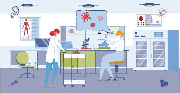 Medical or pharmaceutical laboratory interior.