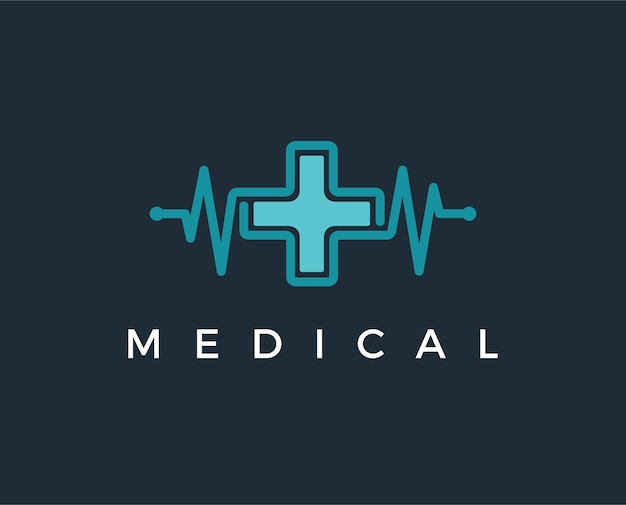 Иллюстратор шаблона дизайна логотипа медицинской аптеки