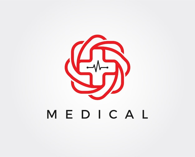 Шаблон логотипа медицинской аптеки