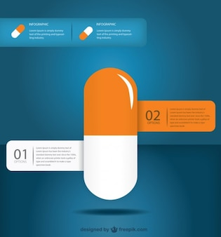 Medical pill infographic design