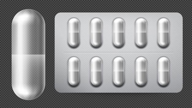 カプセル付きの医療用錠剤包装