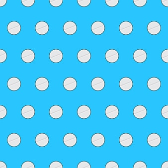 파란색 배경에 의료 약 원활한 패턴입니다. 항생제 의료 제약 테마 벡터 일러스트 레이 션