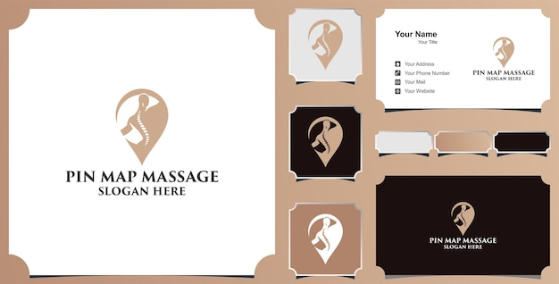 Medical pin theraphy  logo and business card