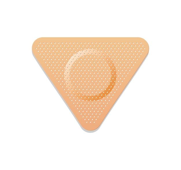 Medical plaster. adhesive bandage or sticking plaster.