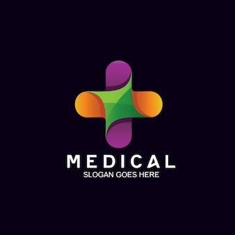 Medical in plus shape for health care logo