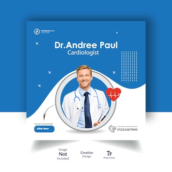 Medical podcast social media post design