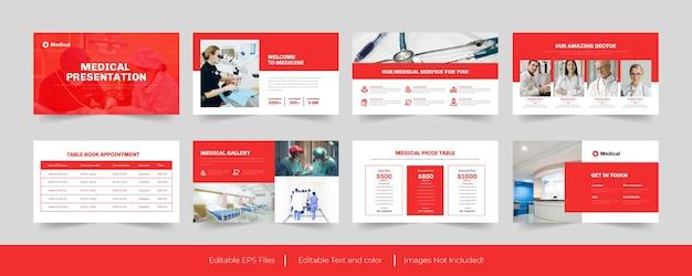 Медицинский дизайн шаблона powerpoint