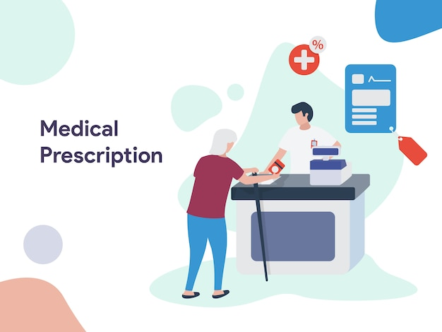 Medical prescription illustration