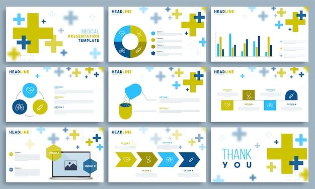 Medical presentation template set.