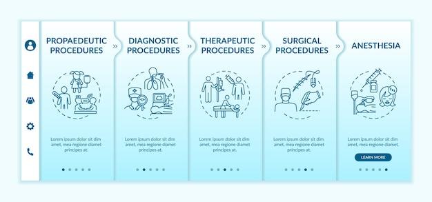 Шаблон для ознакомления с типами медицинских процедур