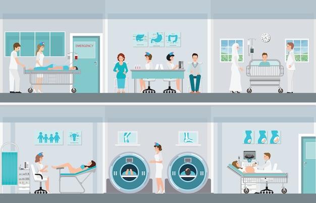 Медицинские специалисты работают в операционной.