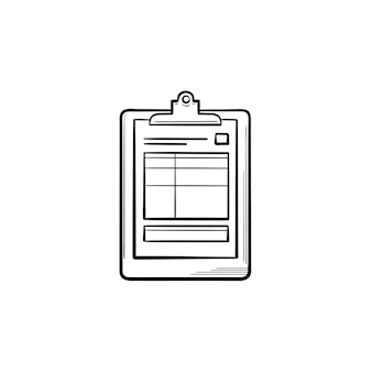 Medical record and health tests hand drawn outline doodle icon