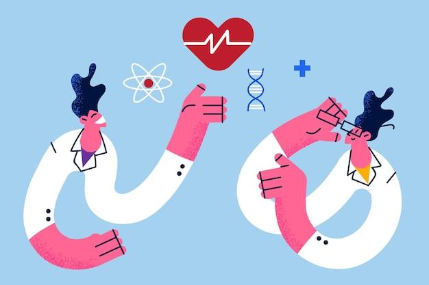 医学研究と科学の概念 Premiumベクター