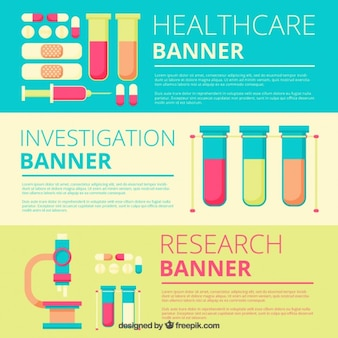 Medical research banners