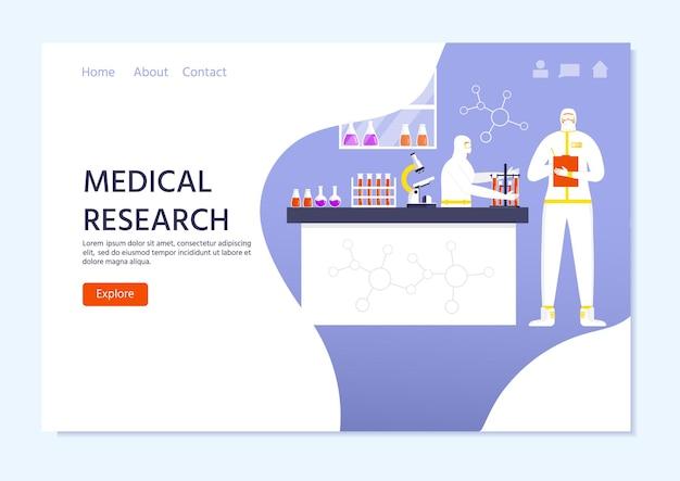 Концепция медицинских исследований, люди в защитном костюме и маске, ученый. глобальная эпидемия или пандемия. covid-19, коронавирусная болезнь. работник химического отдела делает тест на вирус. вектор