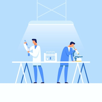 Medical research laboratory and drugs creation