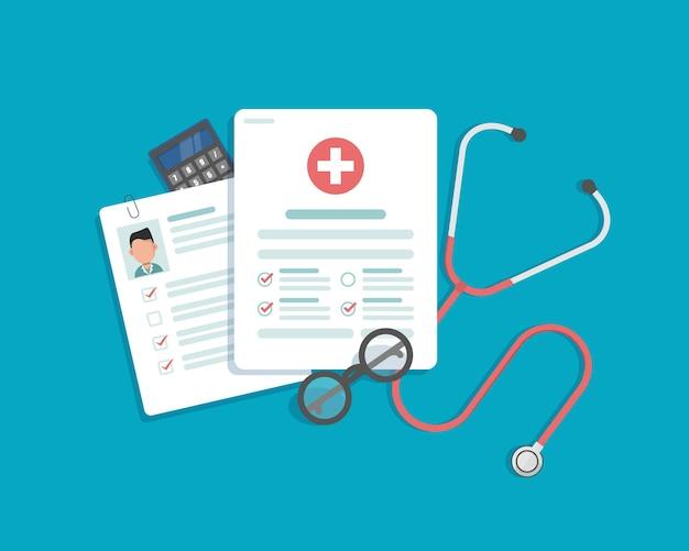 Отчет о медицинских исследованиях или вектор контракта