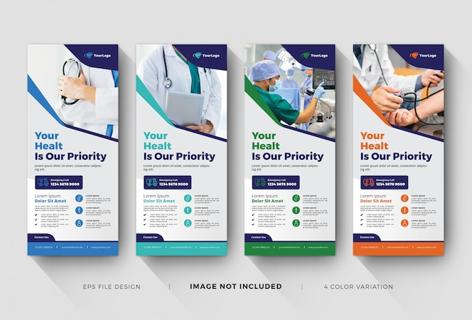 medical roll up banner templates