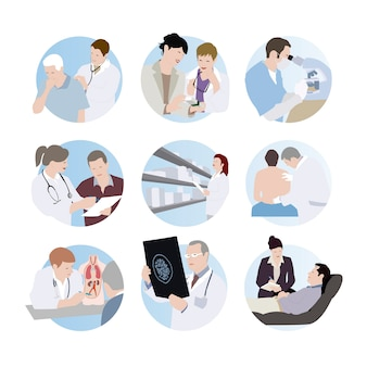 Medical scenes.