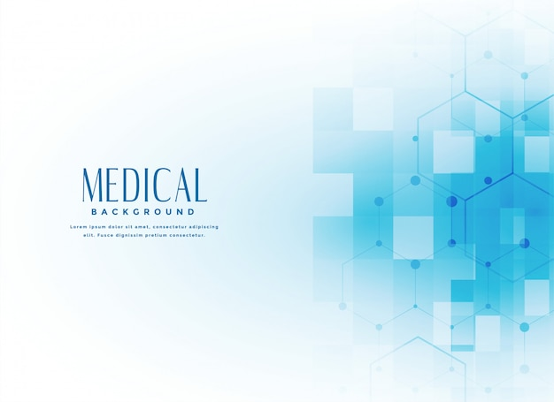 Medical science background in blue color