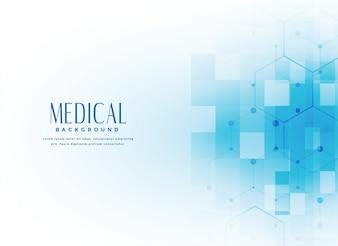 青い色の医学の背景