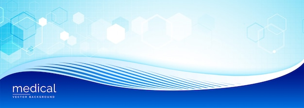 Medical science banner with text space