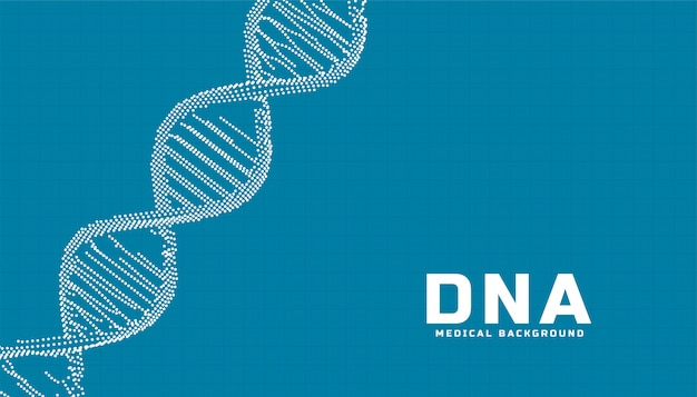 Medical science healthcare background with dna