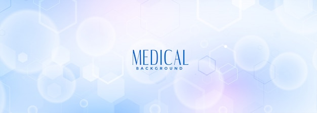 Medical science and healthcare blue banner