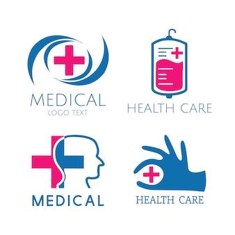 Набор векторных логотипов медицинских услуг