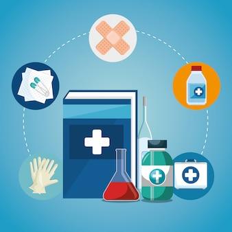 Medical service set icons