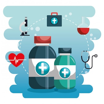 Medical service set icons