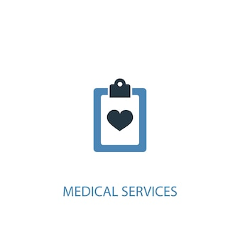 Medical services concept 2 colored icon. simple blue element illustration. medical services concept symbol design. can be used for web and mobile ui/ux