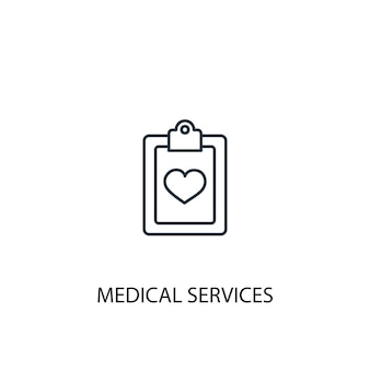Medical services concept line icon. simple element illustration. medical services concept outline symbol design. can be used for web and mobile ui/ux