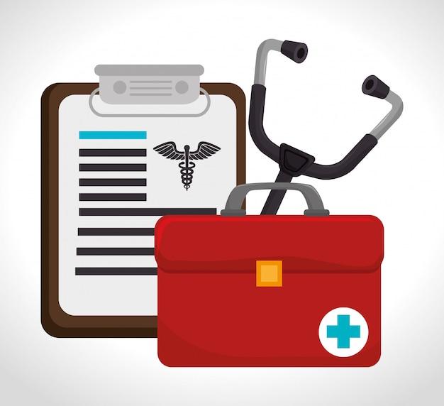 의료 세트 디자인.