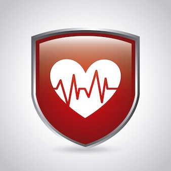 Medical shield graphic design