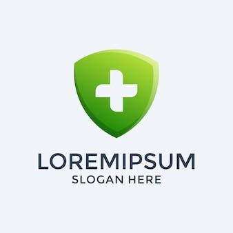 Шаблон дизайна логотипа медицинского щита