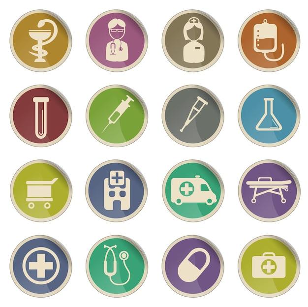 Медицинский просто векторный набор иконок