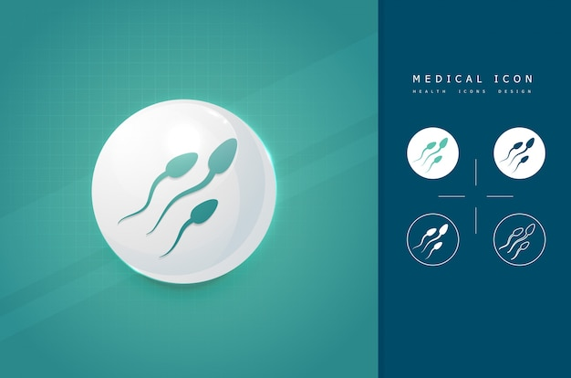 Medical sperm icon