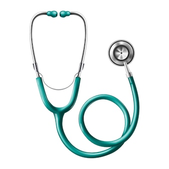 Medical stethoscope.  icon illustration.
