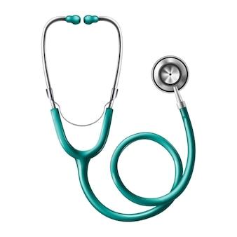 Medical stethoscope.  icon illustration.