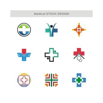医療用ストックデザインロゴ