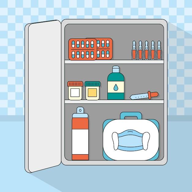 Медицинское хранилище с дизайном расходных материалов
