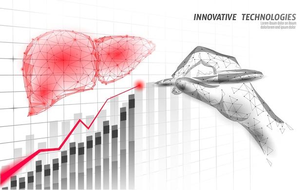 Medical symbol liver growing trend