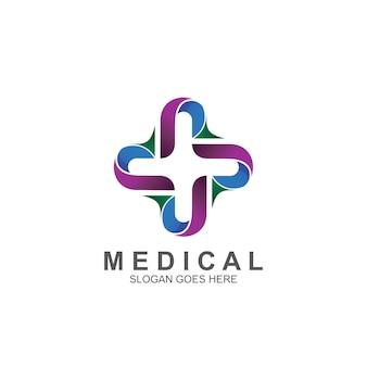 Medical symbol logo design