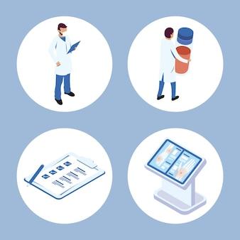 Набор медицинских символов