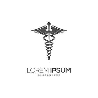 Medical symbol silhouette logo